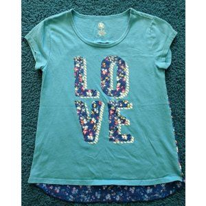 3 for $18 🔥 LOVE T-shirt floral inset Med ~EUC~